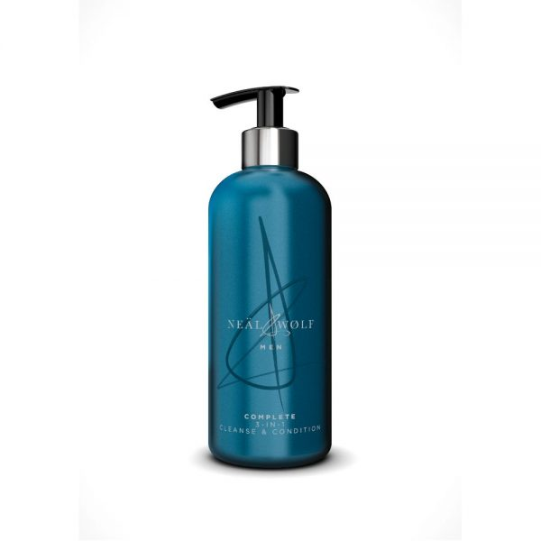 Neal & Wolf Men's 3-in-1 Shampoo, Conditioner & Body Wash